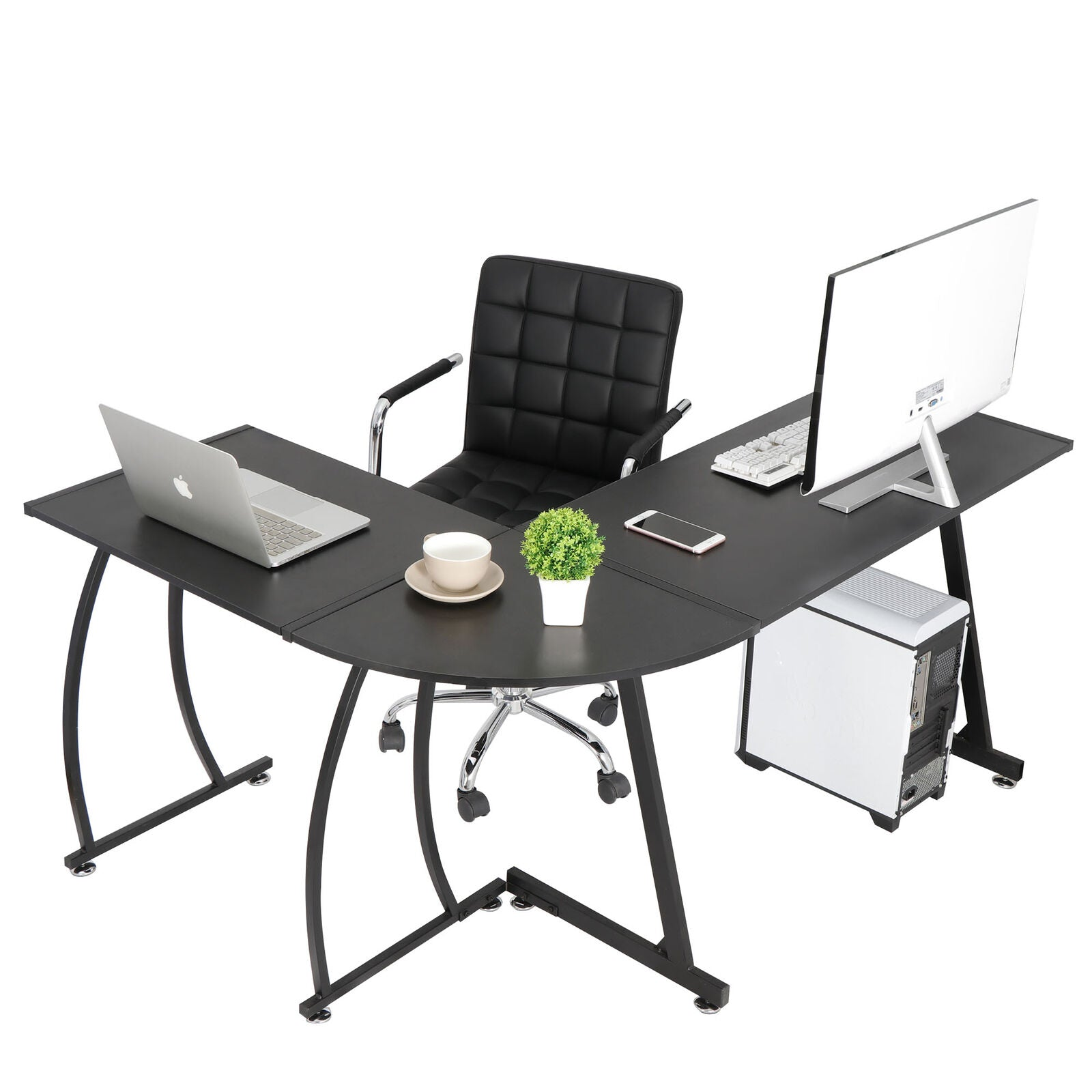 Premium L Shaped Gaming Computer Desk for Laptop PC - Morealis