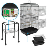 "Premium Large Bird Cage Parrot House Rolling with Stand 59"" - Morealis"