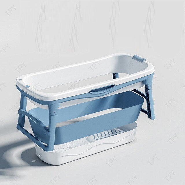 Premium Large Foldable Stand Alone Bathtub Collapsible Spa Hot Tub - Morealis