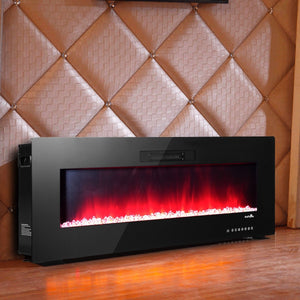 Premium LED Fireplace Electric Heater Wall Mounted Standing Fireplace 50in - Morealis