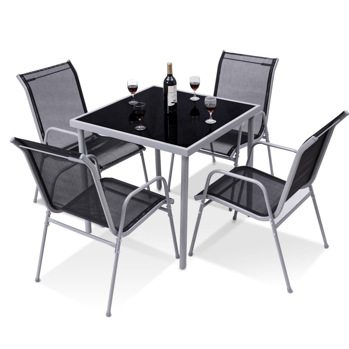 Premium Outdoor Bistro Set Patio Dining Table and Chair - Morealis