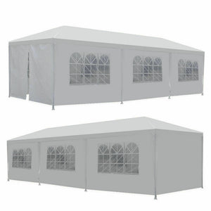 Premium Outdoor Canopy Party Wedding Tent White Gazebo 10'x30' - Morealis
