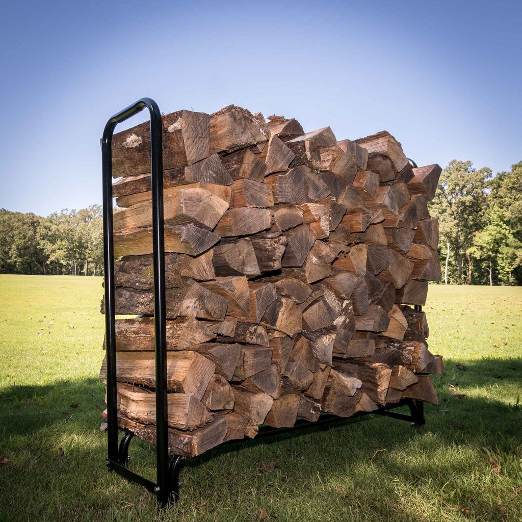 Premium Outdoor Firewood Rack Log Storage Holder 4ft - Morealis