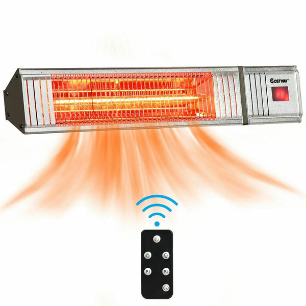 Premium Outdoor Infrared Patio Heater Wall Mount Remote Control 1500W - Morealis