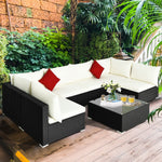 Premium Patio Furniture 7 Piece Outdoor Wicker Sofa Couch Furniture - Morealis