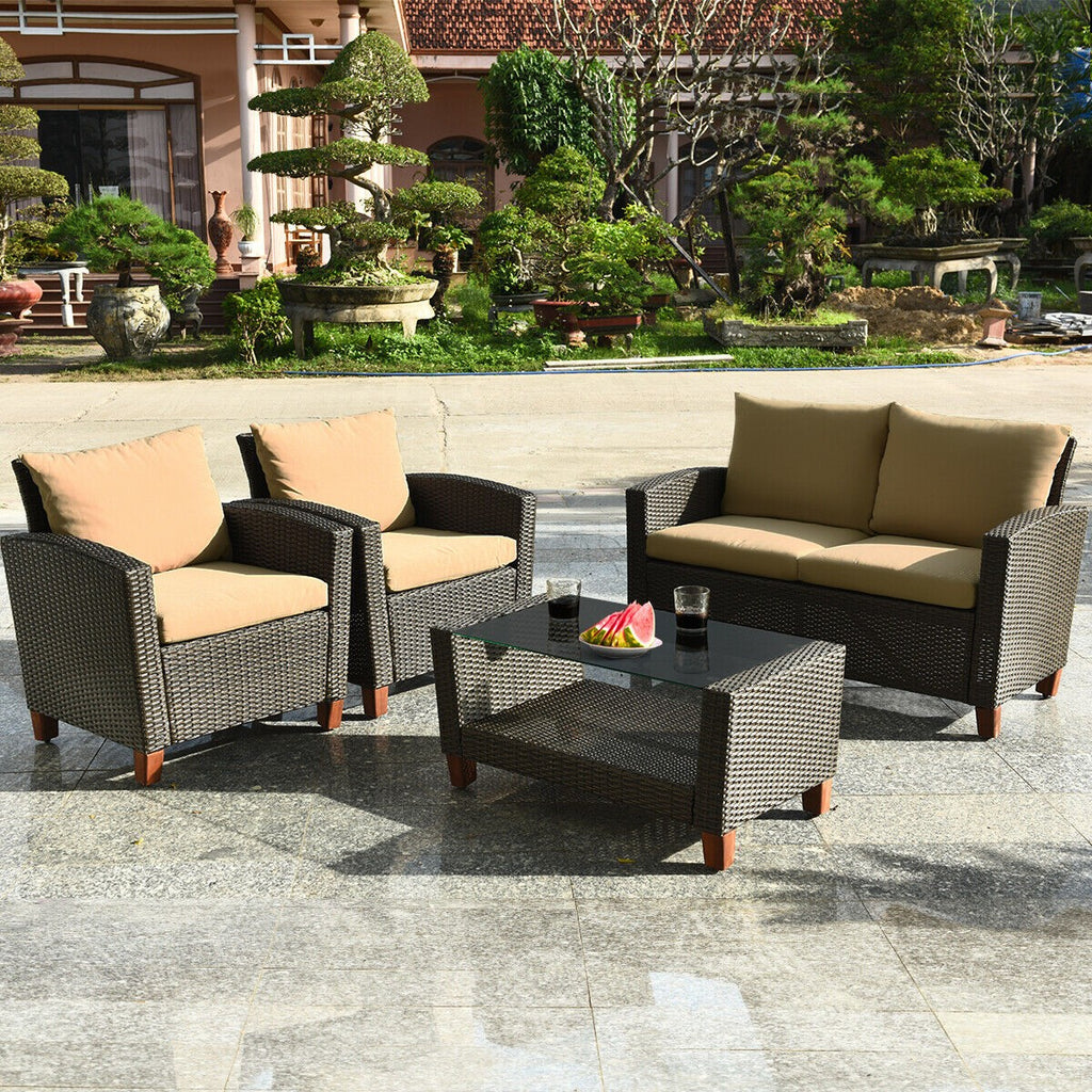 Premium Patio Furniture Set Outdoor Table and Chair Furniture Set 4 Pcs - Morealis