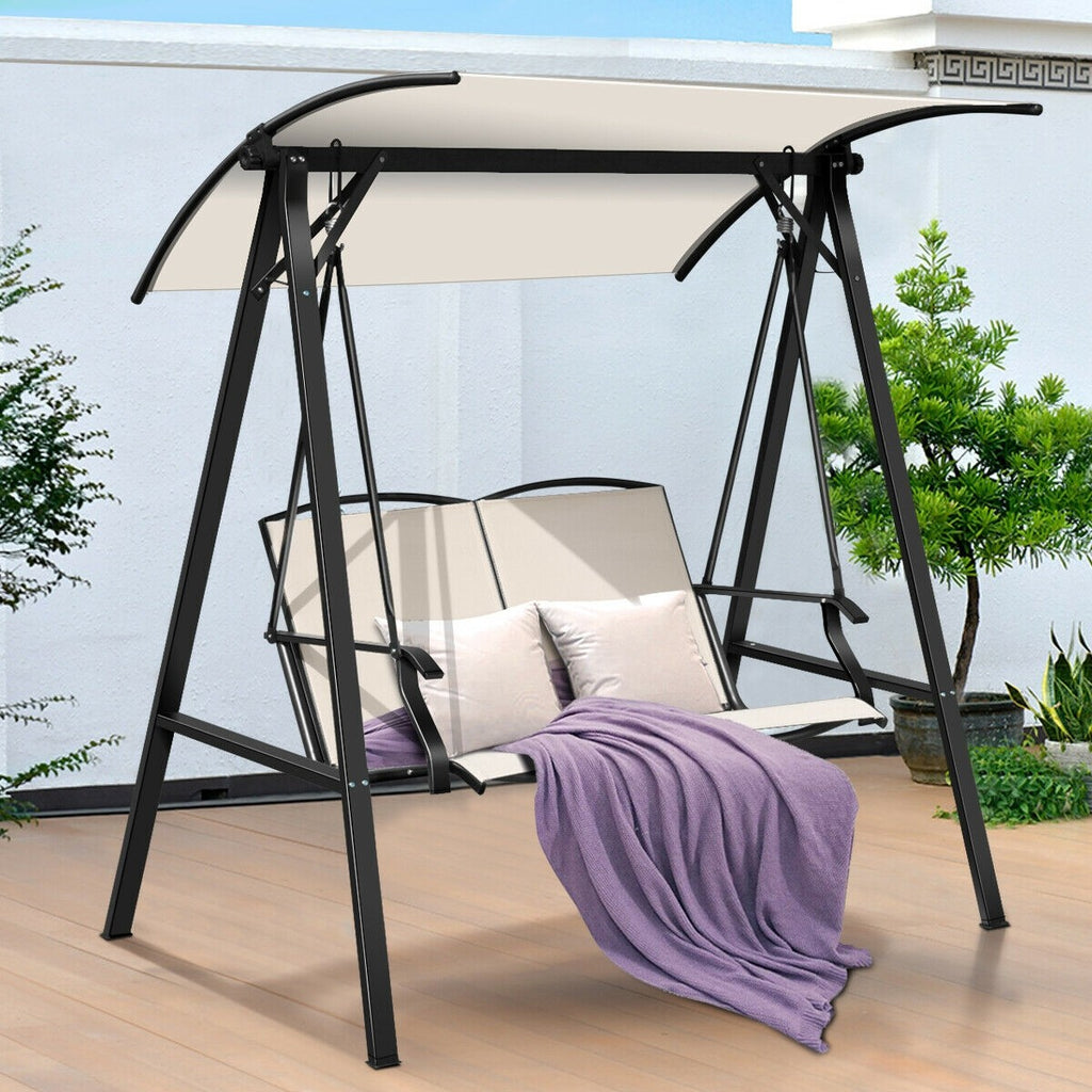 Premium Patio Swing Outdoor Hanging Porch Canopy Swing 2-Seat - Morealis