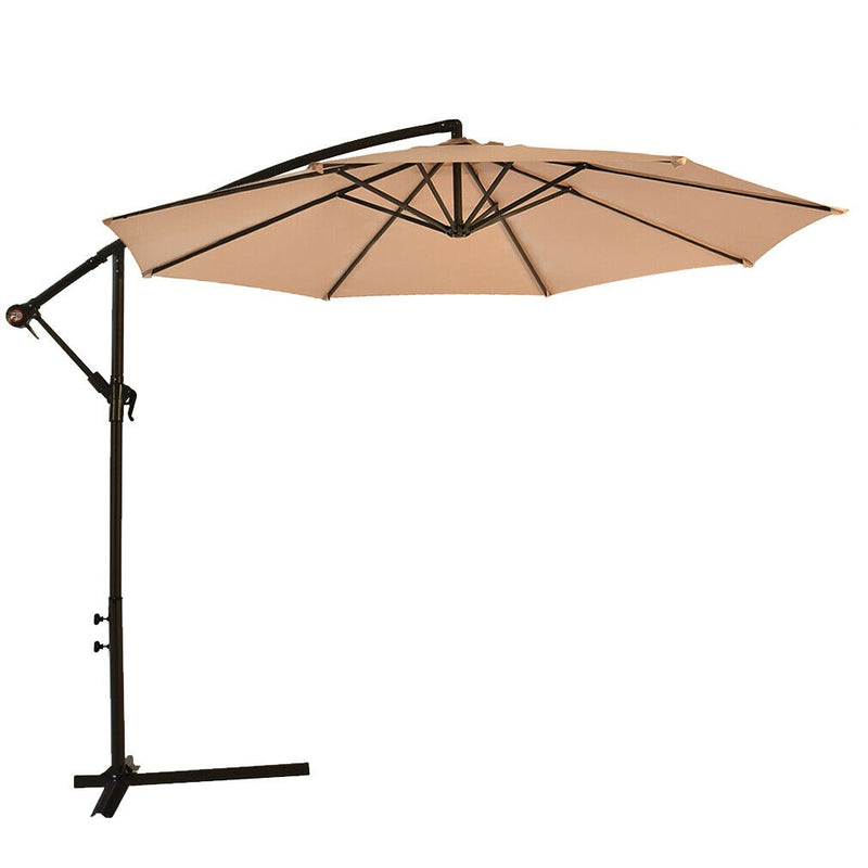 "Premium Patio Umbrella Offset Hanging Outdoor Market Umbrella 10"" - Morealis"
