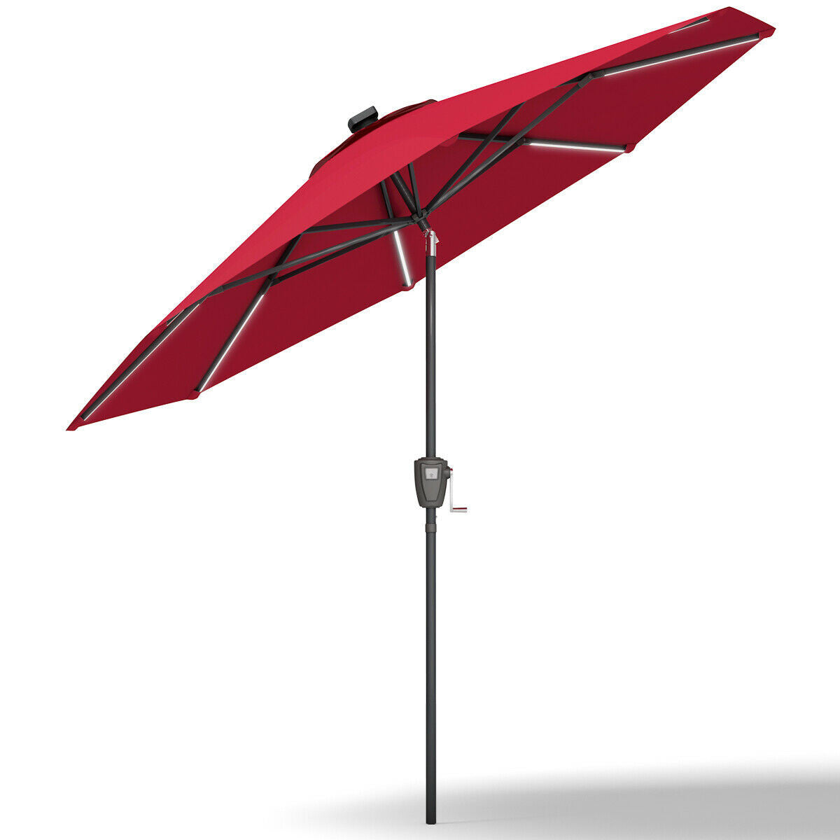Premium Patio Umbrella Outdoor Backyard Garden Solar Umbrella Sun Shade Cover - Morealis