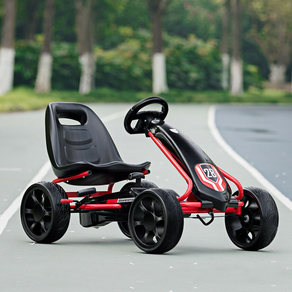 Premium Pedal Car Kids Ride On Toy Peddle Powered Go Kart Pedal Car - Morealis