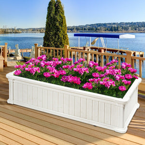 Premium Raised Planter Box Vegetable Rectangle Outdoor Planter Box 2 PC - Morealis