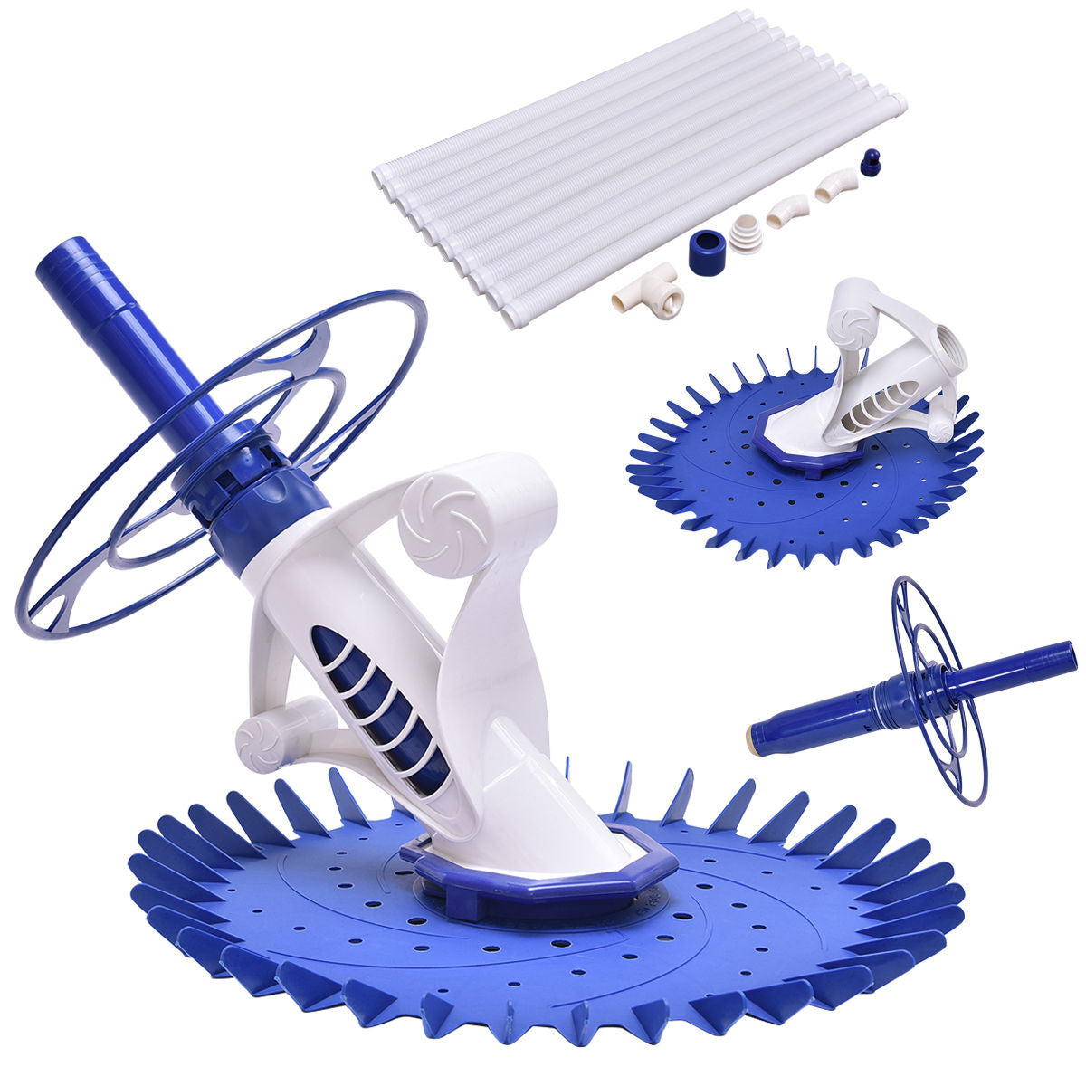 Premium Swimming Pool Cleaner Set Automatic Above Ground Vacuum 10 Hoses - Morealis