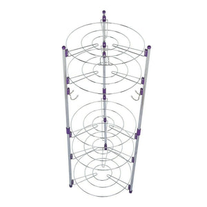 Premium Tier Pan And Pot Lid Organizer Rack Holder Large - Morealis