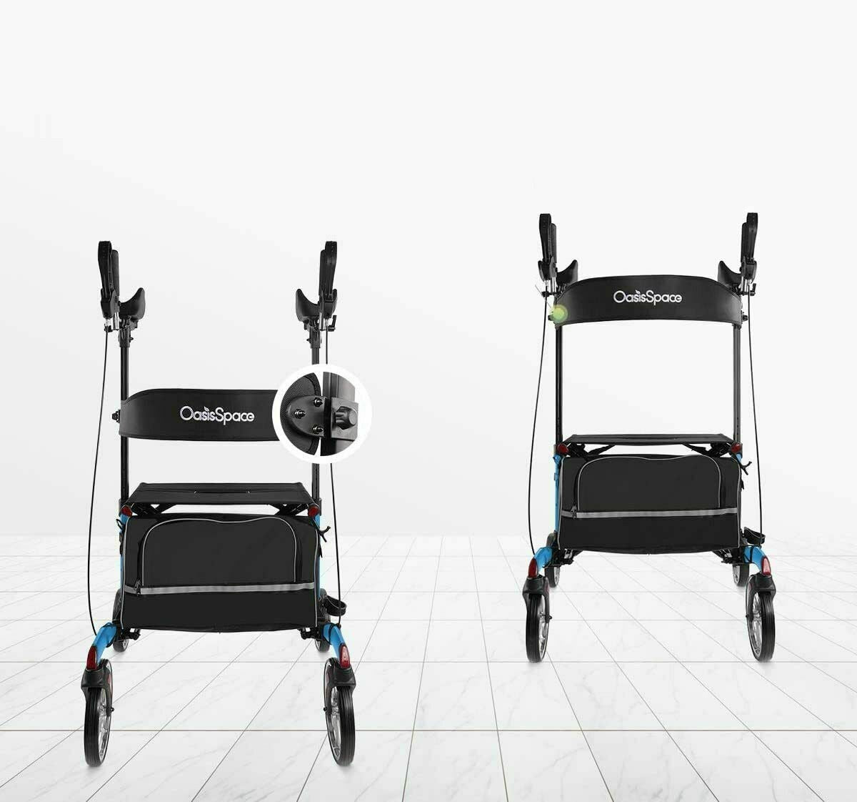 "Premium Upright Walker Tall Walker with 10"" Front Wheels Stand Up Walker - Morealis"