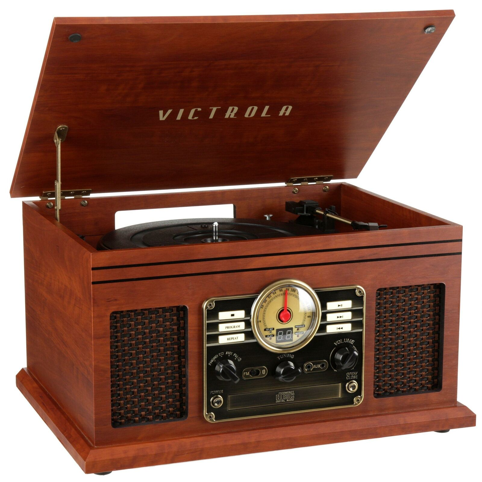 Premium Vinyl Record Player 3-Speed Turntable Bluetooth Retro - Morealis