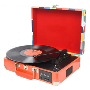 Premium Vinyl Record Player Portable Modern Retro Turntable 4 - Morealis