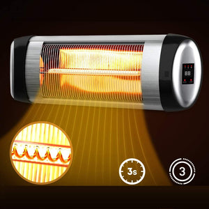 Premium Wall Mount Electric Infrared Patio Heater LED - Morealis