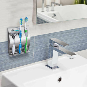Premium Wall Mounted Tooth Brush Holder for Adults and Kids - Morealis