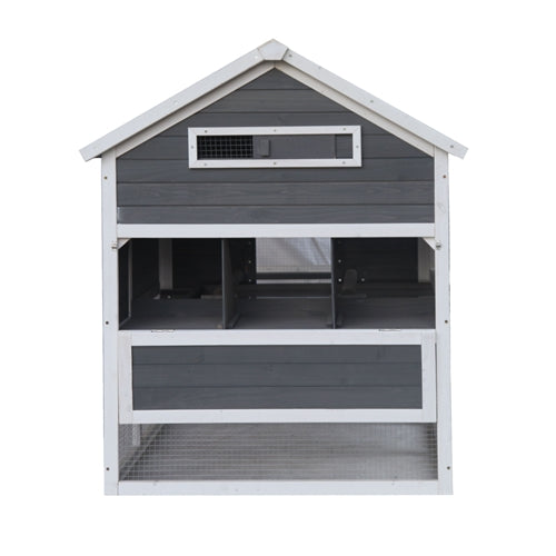 Premium Wooden Chicken Coop Large Barn Style Gray Tractor - Morealis