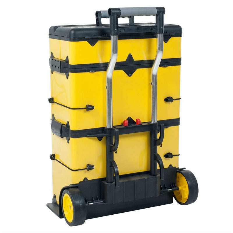 Premium Yellow High Metal Rolling Trolley Tool Box 33in