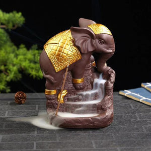 Royal Elephant Incense Burner Ceramic Base
