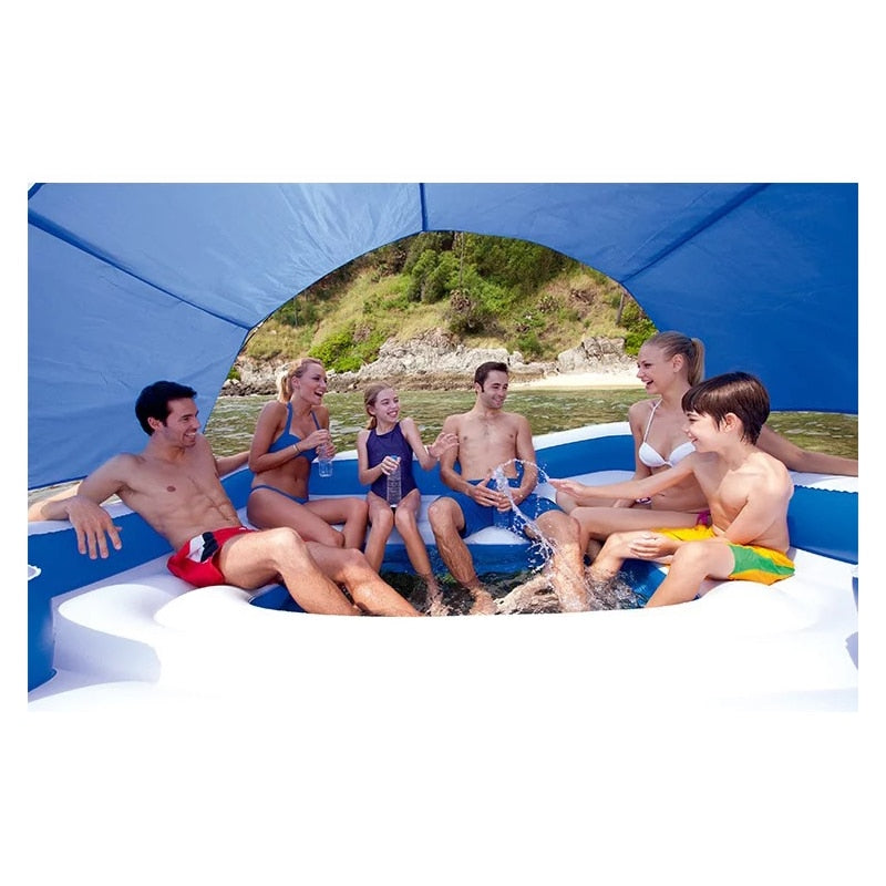 Party for 6 Floating Island Inflatable Pool Island Float - Morealis