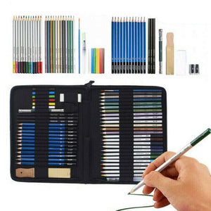 Premium Pencil Kit for Sketching Drawing Arts and Craft Charcoal Tool Set - Morealis