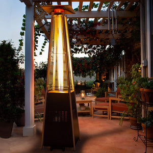 Luminesce Outdoor Propane Pyramid Patio Heater Fire Pit Heat Lamp - Morealis