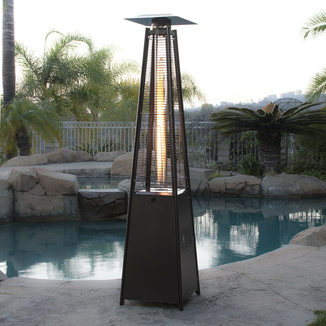 Radiance Outdoor Propane Patio Heater Gas Fire Pit Tube Lamp - Morealis