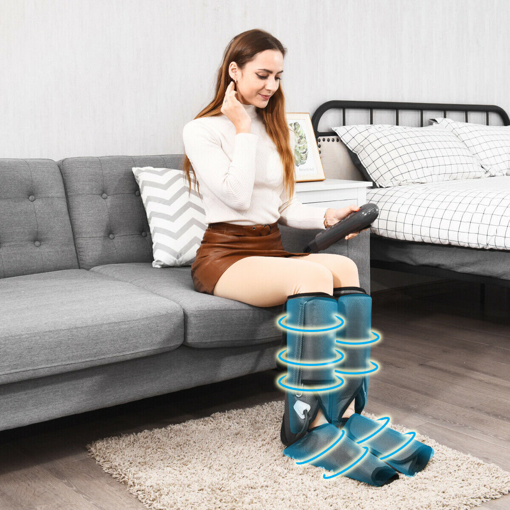 Relaxapy Foot and Leg Massager for Circulation Portable Electric Calf Compression Sleeve - Morealis