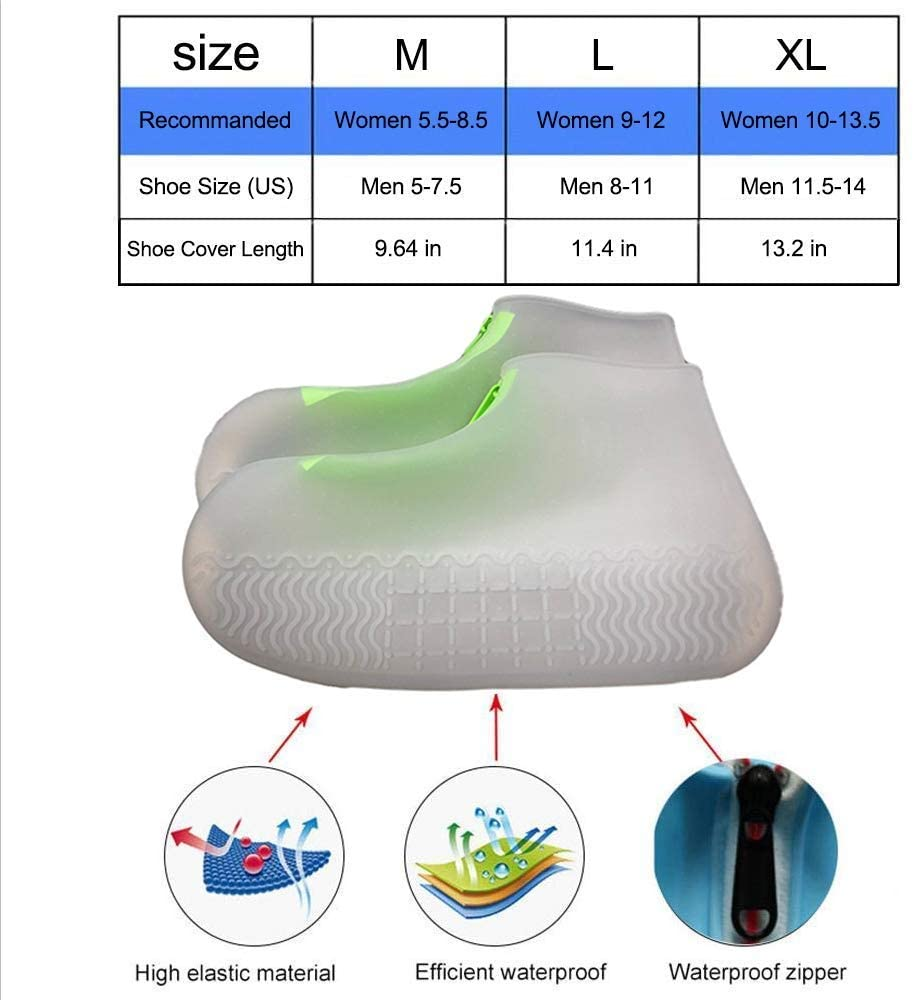 Reusable Silicone Shoe Cover Waterproof Slip Resistant Shoe Protectors - Morealis