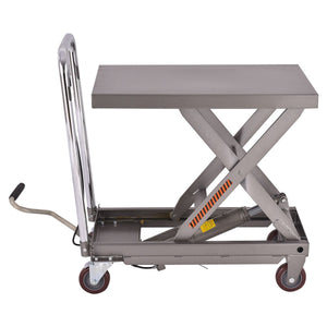 Rolling Hydraulic Table Lift Rolling Cart 500 lb Capacity - Morealis