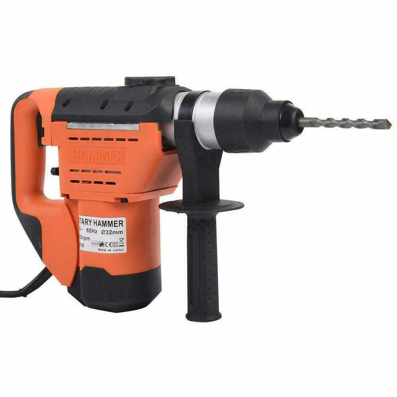 "Premium Rotary Hammer Drill Electric Rotary Drill With Bits 1-1/2"" SDS - Morealis"