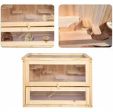 Small Wooden Hamster Cage Animal Pet House - Morealis