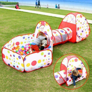 Spacious Kids Play Tunnel Children Playground Tent - Morealis