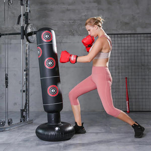 Portable Stand Up Punching Bag Inflatable Free Standing Boxing Punching Bag - Morealis