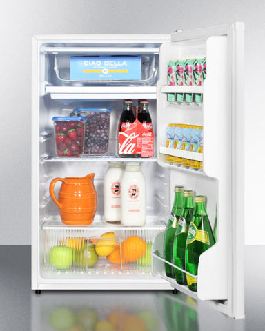 """Summit 19"""" Wide Refrigerator-Freezer With Auto Defrost And White Exterior ADA Compliant"""