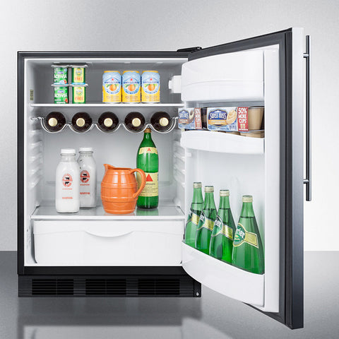 """Summit 24"""" Wide All-Refrigerator With Thin Handle"""
