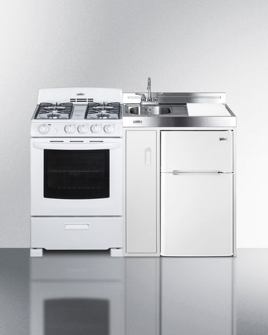 """Summit 54"""" Wide All-in-One Kitchenette with Gas Range"""
