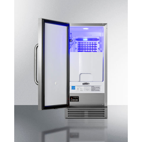 Summit Built-In 50 lb. Clear Icemaker ADA Compliant