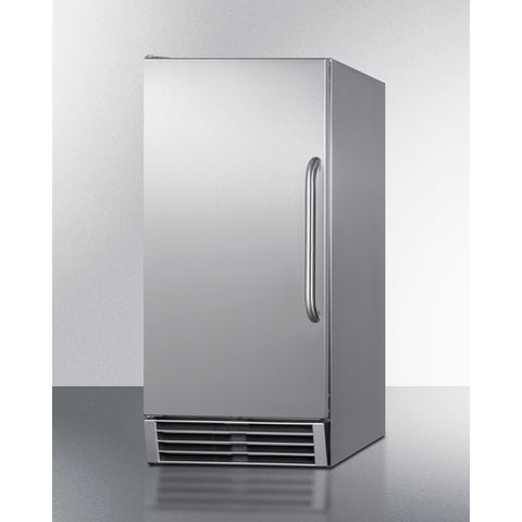 Summit Built-In 50 lb. Clear Icemaker Complete Stainless Steel Exterior