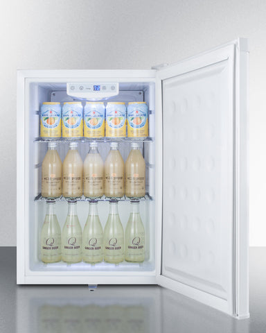 Summit Compact Built-In All-Refrigerator in White