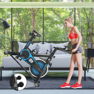 SuperFit Indoor Stationary Bike Small Folding Exercise Cycling Training - Morealis