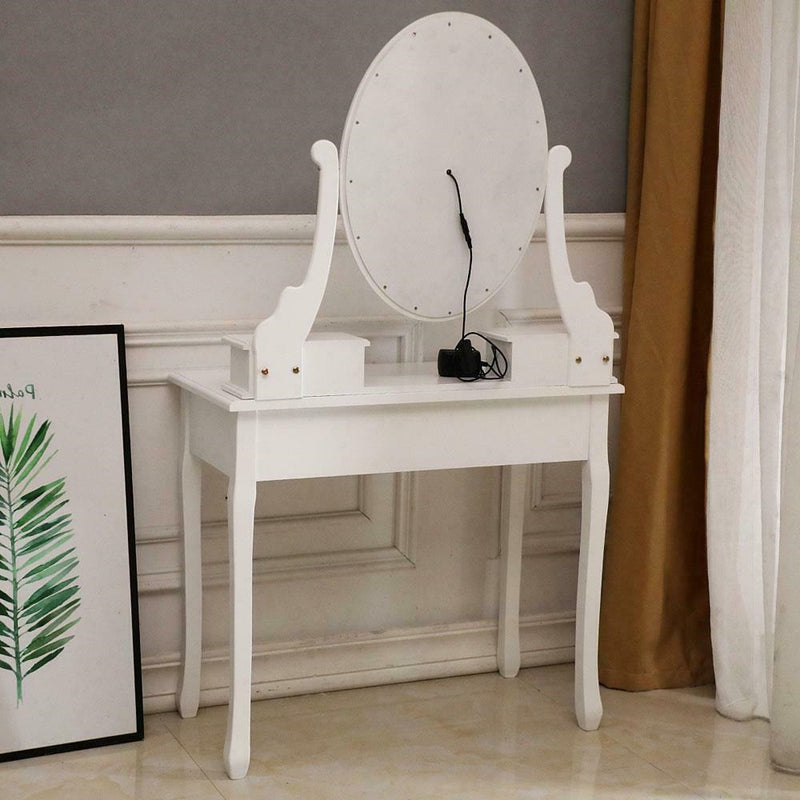 Vanity Table Set with Lighted Mirror Makeup Dressing Table - Morealis