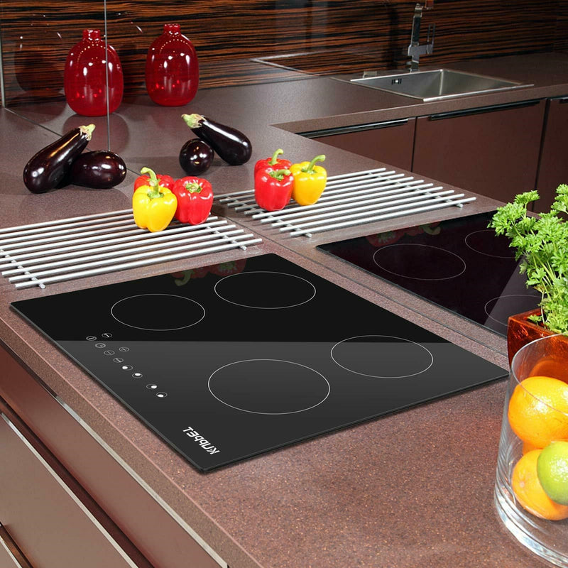 Vitro Ceramic Electric Cooktop Cooktop Vertical with 4 Burners