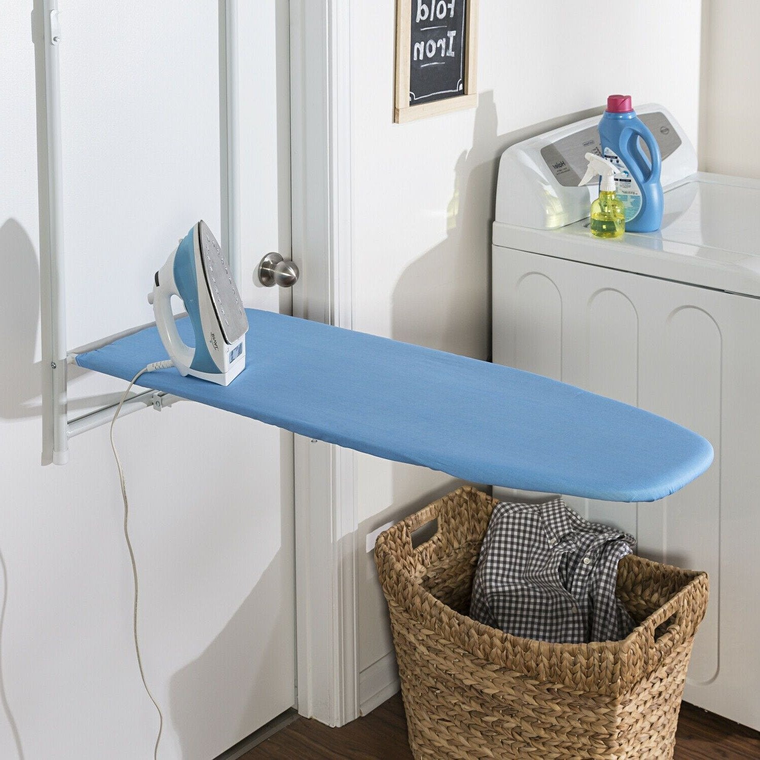Wall Mount Ironing Board Small Mini Hanging Foldable Ironing Board - Morealis