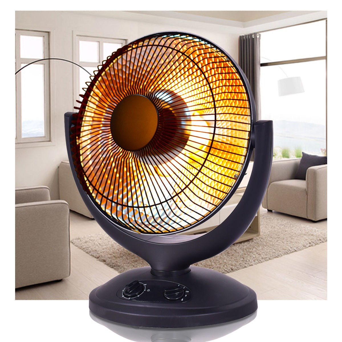 Warm Portable Small Space Heater Electric Room Garage Oscillating Heater - Morealis