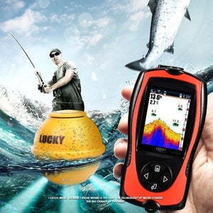 Premium Handheld Fish Finder Wireless Sonar GPS Depth Sensor - Morealis