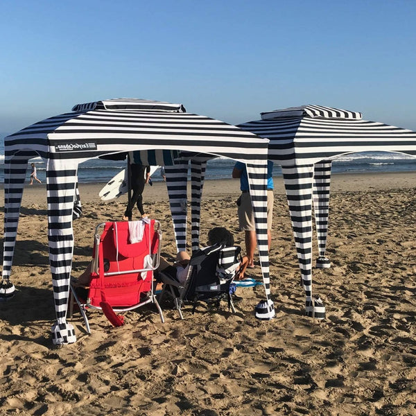 Zebra Beach Cabana Tent Pop Up Canopy Sun Shade Umbrella For Beach