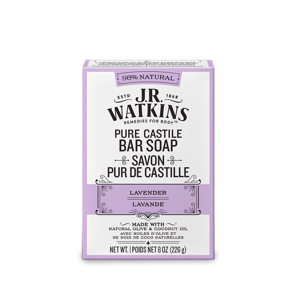 Bar Soap, Hand & Body, 8 oz, Lavender Castile